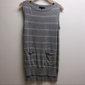 Banana republic sleeveless striped sweater dress